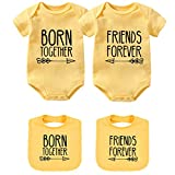 YSCULBUTOL - Conjunto de ropa para bebé, diseño inspirado en amigos -  Amarillo -  4-6 meses