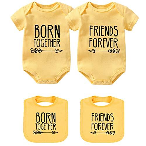 YSCULBUTOL - Conjunto de Ropa para bebé, diseño Inspirado en Amigos - Amarillo - 10-12 Meses