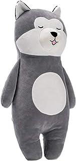 QNSZBD Peluche Husky, tierno, Lavable - Seguridad Probada - para niños de Todas Las Edades, Alto 50 cm