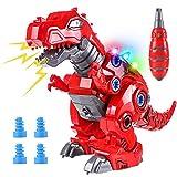 Toyssa Dinosaurio Juguete Caminar con LED Luz y Realista Sonido T-Rex Dinosaurios Cumpleaños para Niños y Niñas 3 4 5 6 Años (Rojo)