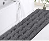 DomoWin Badteppich Badvorleger aus Mikrofaser Chenille Hochflor Duschvorleger Badematte