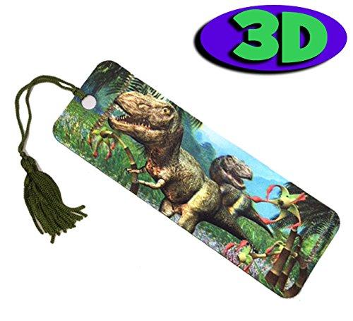 High Qualität, 3D Dazzling Dinosaurier Lesezeichen. Toll als Party Tasche Füllstoffe oder Ende der Term Geschenke für Schüler