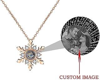 Milacolato 2Pcs I Love You Collier Bracelet en 100 Langues Memory of Love Nano-Technology Projective Pendant Pendant Necklace for Women
