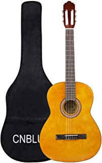 3 4 Size Classical Acoustic Guitar for Beginner Kid Small Nylon String Guitar (36 inch)