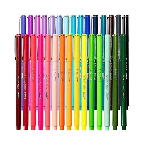 Le Pens Multicolor Set | 0.3mm Fine Point Pens | Smudge Proof Ink | All 30 Basic, Neon and Pastel Colors