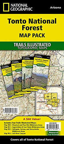 Tonto National Forest [Map Pack Bundle] (National Geographic Trails Illustrated Map)