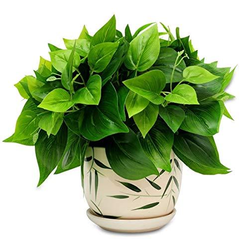 Start 40 Simulation de Radis Vert Plante Verte Fleurs en Plastique de Faux et des Pots de décoration Salon mobilier de Chambre Table Basse décoration de la Maison