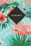 Zimbabue: Cuaderno de diario de viaje gobernado o diario de viaje: bolsillo de viaje forrado para hombres y mujeres con líneas