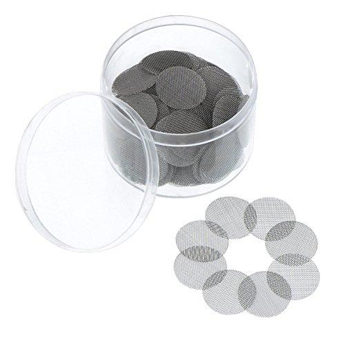Shappy 150 Piezas de Filtro de Pantalla de Acero Inoxidable Pantalla de Pipa de Fumar 20 mm con Caja de Almacenaje