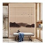 WENZHE Estores Bambú Venecianas Persiana Enrollables, Prueba Polvo Ventilación Intimidad Filtrar Pantalla, Usado para Sala Estar Balcón Salón Oficina, Personalizable (Color : A, Size : 100x120cm)