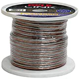 250ft 14 Gauge Speaker Wire - Copper Cable in Spool for Connecting Audio Stereo to Amplifier, Surround Sound System, TV...