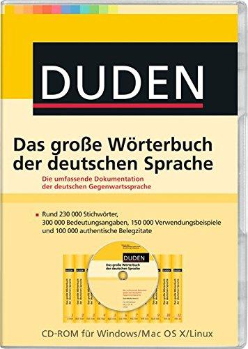 DUDEN Das große Wörterbuch der deutschen Sprache
