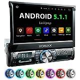 XOMAX XM-VRSUA739 Android 5.1 Autoradio con navigatore GPS App + Supporto WiFi + Bluetooth vivavoce + schermo touch screen da 7'' / 18 cm ( HD 800 x...