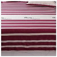 ポリコットン寝具 イージーケアベッドシーツ ソフトフラットシート、シングル、ダブル、耐収縮性および耐退色性、通気性 AWSAD (Color : A, Size : 245*270cm)