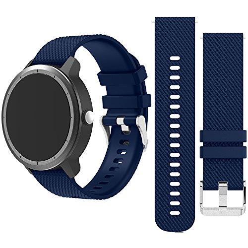 Happy Top Ersatz-Uhrenarmband Armband für S2/Moto/Vivoacive/Vivomove/Huawei, 20mm , unisex, blau