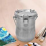 Lavadora de pincel, color plateado, regalo para estudiantes, fácil de llevar,
