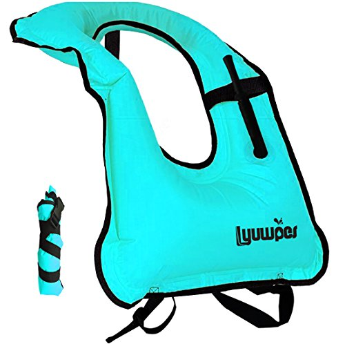 Snorkel Vest Inflatable Snorkeling Jackets Adult Free Diving Swimming Safety Vests Man Women Blue