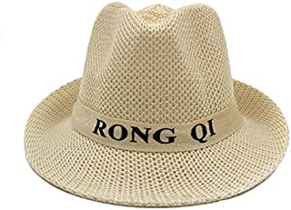 AINIYF Men's Sun Hat, Men's Summer Outdoor Work Sun Hat Wide Eaves Breathable Men's Hat (Color : White)