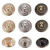 OLYCRAFT 30pcs Conjunto de Botones de Metal para Chaqueta Lion Crest Vintage Botones de Mango de 25 mm 3 Colores para Blazer, Trajes, Abrigo, Uniforme Y Chaqueta - Dorado, Plata, Bronce Antiguo
