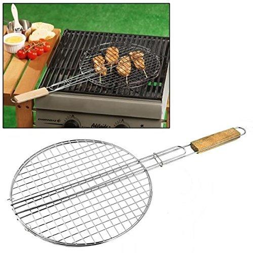 les colis noirs lcn Double Grille Barbecue Ronde 30cm - Accessoire Cuisine Grillade Été - 898