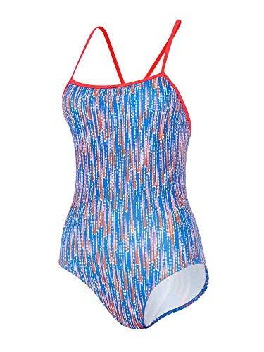 maru Damen Badeanzug FS9009-34 Blau/Rot 34in