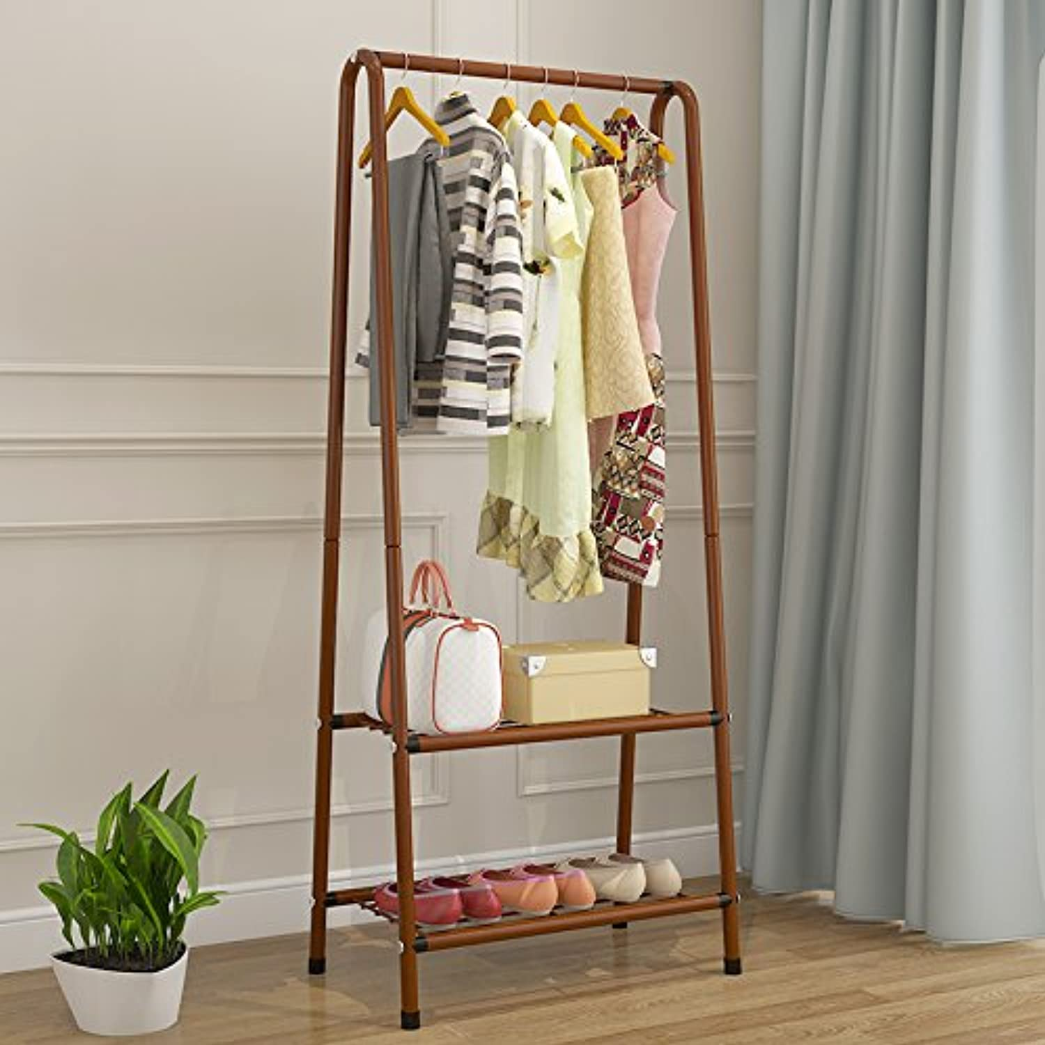 Simple Simple Modern Living Room Floor Coat Rack Hanger Bedroom Storage Rack Wrought Iron Coat Rack