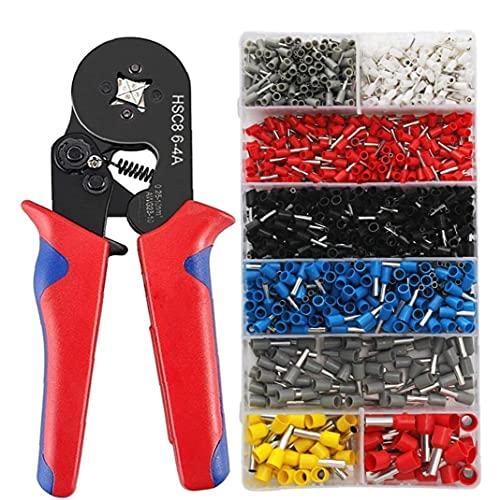 Crimptänger 0.25-10mm Ferrule pressverktyg Kit 1200pcs Isolerad Hylsor för Tube nåltyp typ, Tool Set