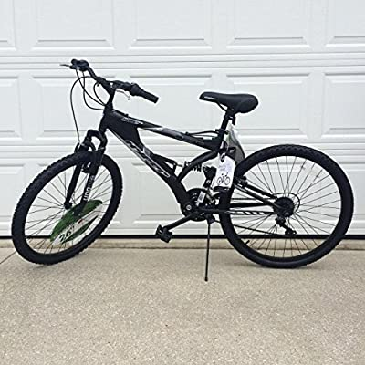 "Generic 26"" Hyper Havoc Full Suspension Men's Mountain Bike, Black"