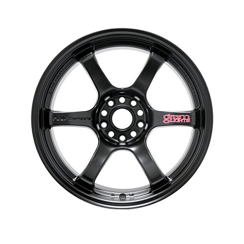 Grams Lights 57DR 18X9.5 +22 5-114.3 SEMI GLOSS BLACK Wheel Rim