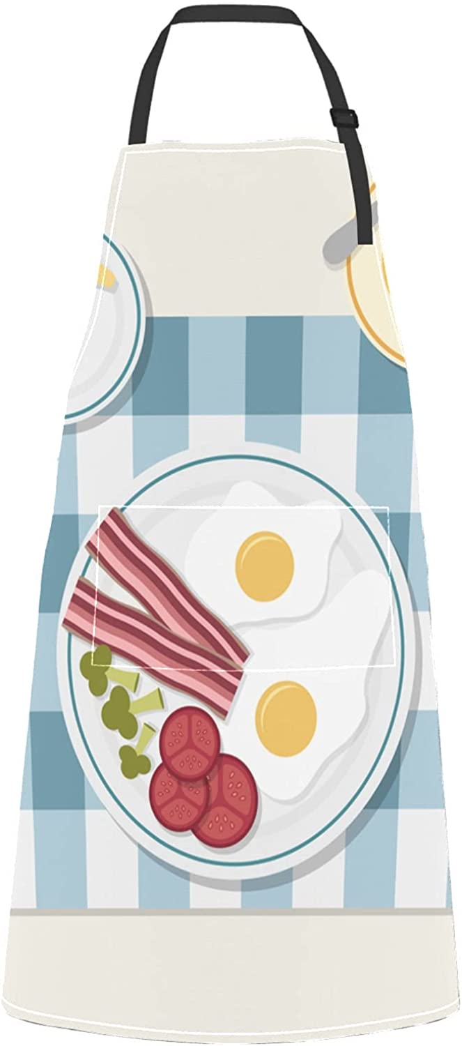 Appetizing Delicious Classic Luxury goods Breakfast Fried Egg Aprons Gril Sausage For