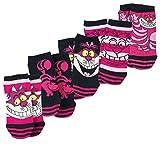 Alice im W&erland Grinsekatze Frauen Socken pink/schwarz EU 39-42