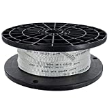 Golberg Woven Polyester Cable Pulling Tape – Printed White Conduit Electric Mule Tape– Professional Pull Tape – Electric Installations, Networks, Cables, Fiber Optic (1/2 Inch x 500 Feet)