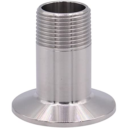 Pipe Size: 1//2 NPT (2 Inch Tri clamp) DERNORD Sanitary Female Threaded Pipe Fitting to 2 Inch TRI CLAMP OD 64mm Ferrule