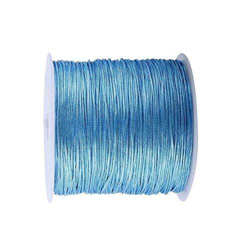 RENSHENKTO Colores Rattail Satén Nylon Trim Cord nudo chino azul