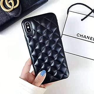iPhone6/6s/7/8 Plus - New Elegant Luxury Designer PU Leather Classic Monogram Style Protective Case Cover Anti Scratch Drop Protection for Apple iPhone 6PLUS 6sPLUS 7PLUS 8PLUS (Black)