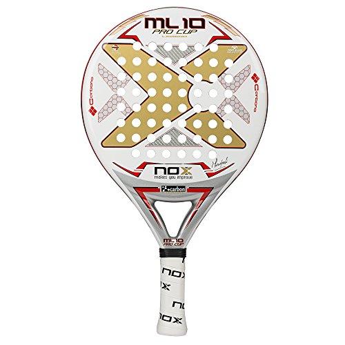 NOX Ml10PRO Cup–Racchetta da Paddle, Colore: Bianco, Speciale