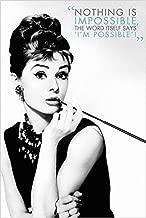 Buyartforless Audrey Hepburn - Nothing is Impossible 36x24 Quote Art Art Poster