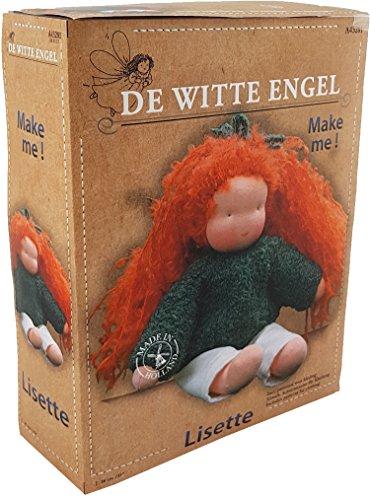 De Witte Engel Lisette-DIY Paquete de Kit de muñeca Waldorf Estilo, Fieltro, Multicolor, 26,5x 20,5x 8cm