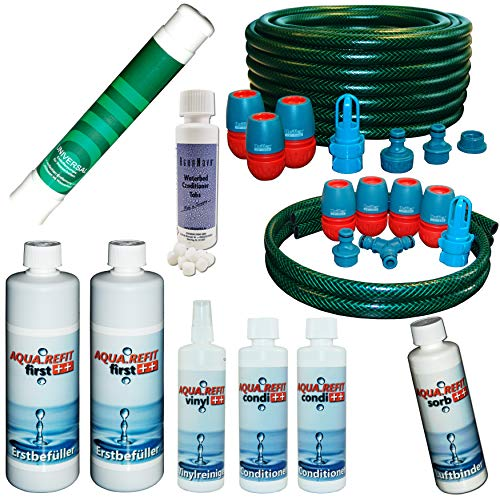Wasserbetten Dual/Mono Starter Paket Starterset Wasserbett Pflege Set Schlauch Condi