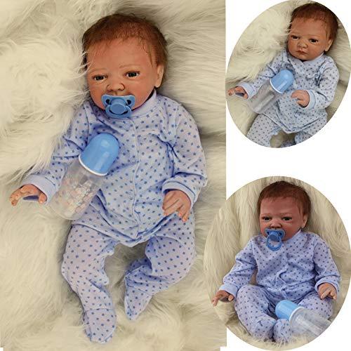 ZIYIUI Reborn Baby Junge 20 Zoll 50 cm Lebensechte babypuppen Handgemachte Silikon Vinyl Entzückende Reborn Puppen Junge Neugeborenes Spielzeug Neugeborenen Geschenke