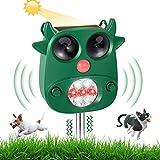 Ultrasuoni Repellente Solare per Ratti Topi Gatti Cani, KNMY 5 Modalità Frequenza Regolabile Repeller Animali Dissuasore, IP65 impermeabile per Uccelli, Scoiattoli Volpi Giardino,Cortile,Fattoria