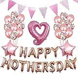 Adiya Globo Día De La Madre Rosegold Set Feliz Mothersdday Feliz Día De La Madre Foil Escena De Balloon Decoración Fiesta Eventos Acción De Gracias Madre Bendición Globos Adentro