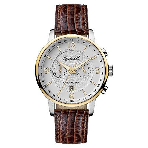 Ingersoll Herren Analog Quarz Uhr mit Leder Armband I00602