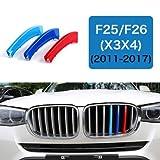 B M W X3 X4 2011-2017 F25 F26 Kidney Grill Stripe Cover Trim M Power Tech Sport Performance
