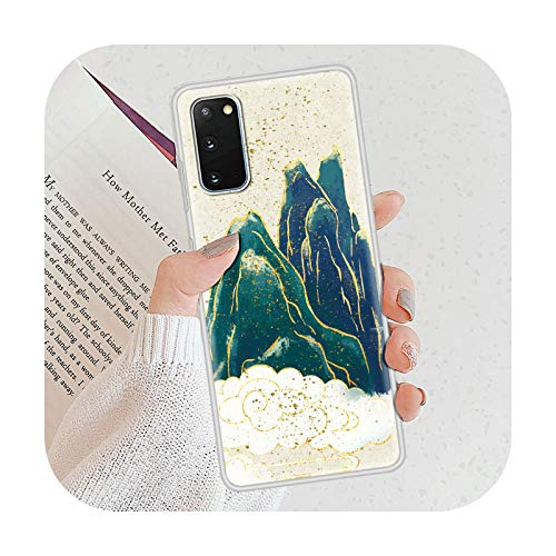 Gold Foil Art Print Funda de lujo para Samsung Galaxy S10 S21 S20 FE S9 S8 Plus Teléfono esmerilado Coque Note 20 Ultra 9 10 Lite Casing-S09-para Samsung S8