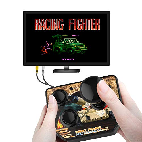 Handheld Plug and Play Video TV Games Console Classic Mini Arcade Joystick Built-in 180 Games for Kids, Children Gift, Birthday Gift,Retro Game Childhood Memories (AV Cable)