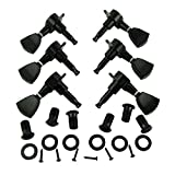 Black Guitar Tulip Tuning Pegs Keys Tuners Machine Heads Electric Acoustic 3R3L