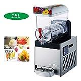 Cerobit Slushies de Hielo de la máquina, Comercial Slushy Cafetera, Bebidas congeladas dispensador de Jugo XRJ15L (1x15L, 450W, Temperatura Rango -2-4ºC)