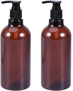 SOLUSTRE 2pcs Empty Pump Bottles 500ml Screw Lotion Liquid Bottles Refillable Toiletries Containers for Home (Random Pump Head Color)
