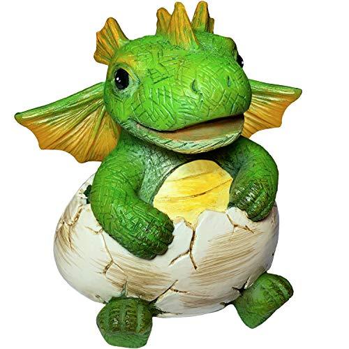 Miniature Fairy Garden and Terrarium Dragon - Mini Birthday Egg Statue - for Outdoor or House Decor